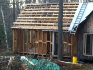 Cabin Stripped to Framing