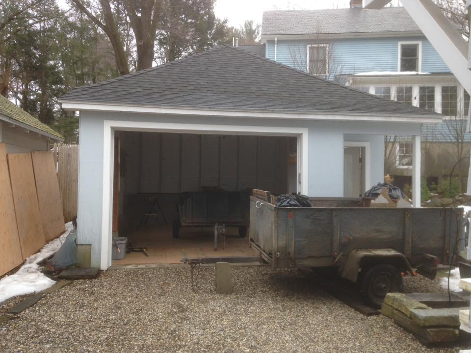 <b>Garage Deconstruction, Northampton, Massachusetts - May 2017<b>